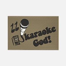 Karaoke God Rectangle Magnet