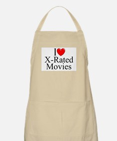 """""""I Love (Heart) X-Rated Movies"""" BBQ Apron"""