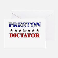 PRESTON for dictator Greeting Card