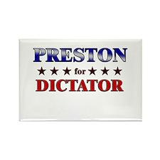 PRESTON for dictator Rectangle Magnet