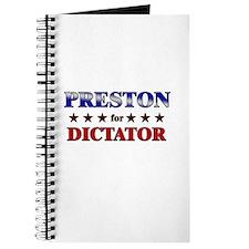 PRESTON for dictator Journal