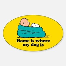 Snoopy - Home is where my dog is Full Blee Decal