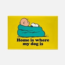 Snoopy - Home is where my dog is Full Blee Magnets