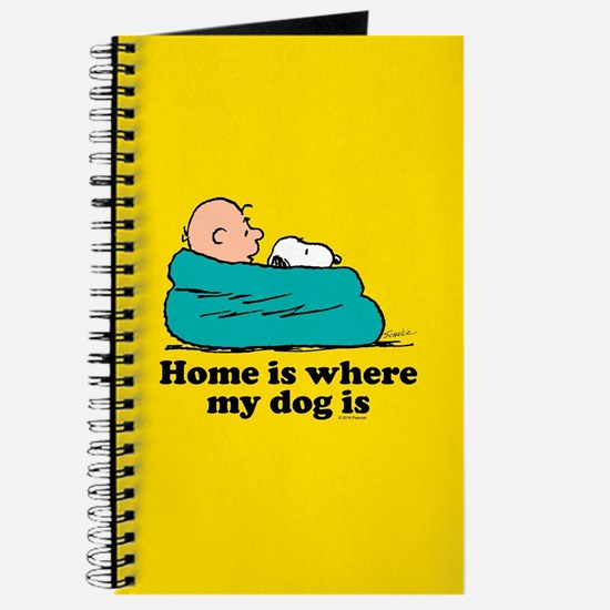 Snoopy - Home is where my dog is Full Blee Journal