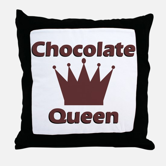 Chocolate Queen Throw Pillow