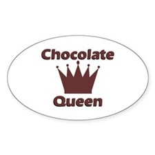 Chocolate Queen Oval Decal
