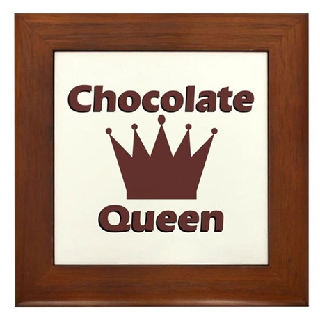 Chocolate Queen Framed Tile