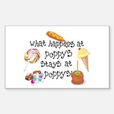 What Happens at Poppy's... Rectangle Decal