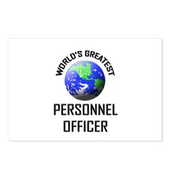 World's Greatest PERSONNEL OFFICER Postcards (Pack