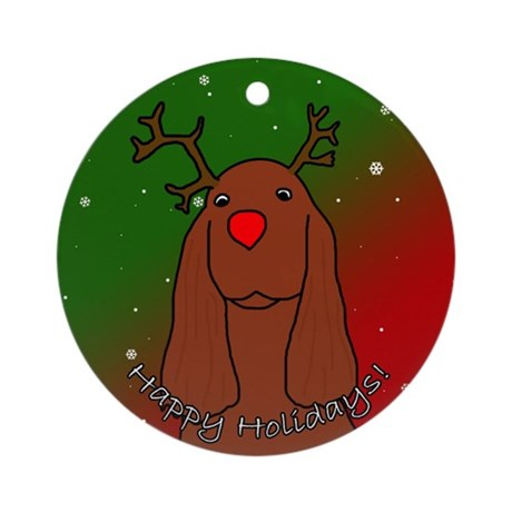 Reindeer Irish Setter Christmas Ornament