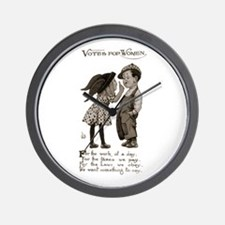 Women's Voting Rights Wall Clock