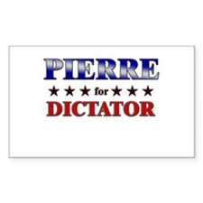 PIERRE for dictator Rectangle Decal