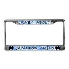 Crazy About Japanese Chins License Plate Frame