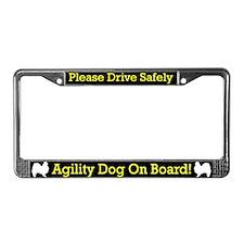Japanese Chin Agility Dog License Plate Frame