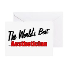 """""""The World's Best Aesthetician"""" Greeting Card"""