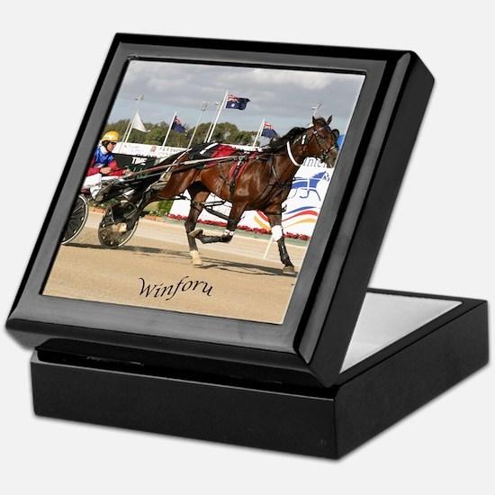 Unique Harness racing Keepsake Box