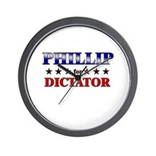 PHILLIP for dictator Wall Clock