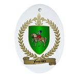 FOURNIER Family Crest Oval Ornament