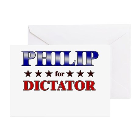 PHILIP for dictator Greeting Cards (Pk of 10)