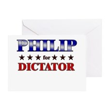 PHILIP for dictator Greeting Card