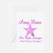 army moms made stronger Greeting Card