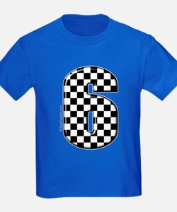 checkered number #6 T