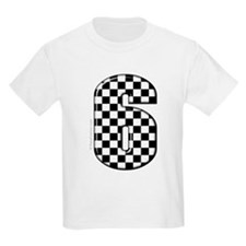 checkered number #6 T-Shirt