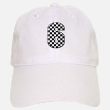 checkered number #6 Baseball Baseball Cap