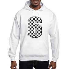 checkered number #6 Hoodie