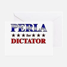 PERLA for dictator Greeting Card