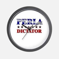 PERLA for dictator Wall Clock