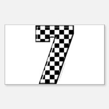 Checkered #7 Rectangle Decal
