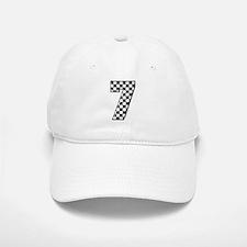 Checkered #7 Baseball Baseball Cap