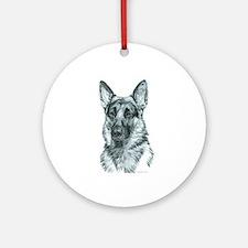 German Shepherd Ornament (Round)
