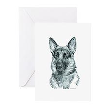 German Shepherd Greeting Cards (Pk of 20)