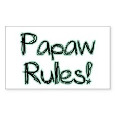 Papaw Rules! Rectangle Decal