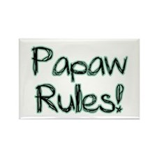 Papaw Rules! Rectangle Magnet (100 pack)