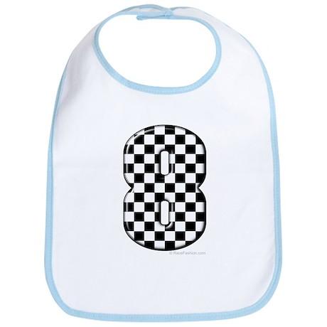 Checkered #8 Bib