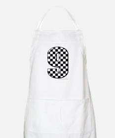 checkered number 9 BBQ Apron