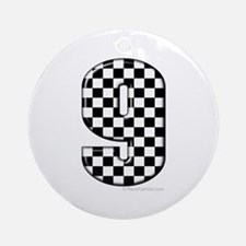 checkered number 9 Ornament (Round)