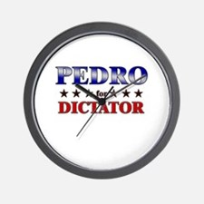 PEDRO for dictator Wall Clock