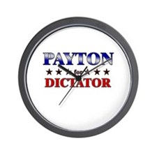 PAYTON for dictator Wall Clock