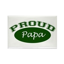 Proud Papa (green) Rectangle Magnet (10 pack)
