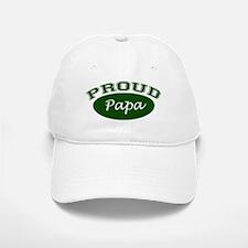Proud Papa (green) Baseball Baseball Cap