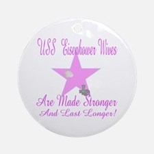 uss ike wives Ornament (Round)