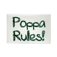 Poppa Rules! Rectangle Magnet (100 pack)