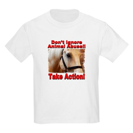 Don't ignore animal abuse... Kids Light T-Shirt