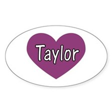 Taylor Oval Decal