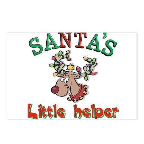 Santa's little helper Postcards (Package of 8)