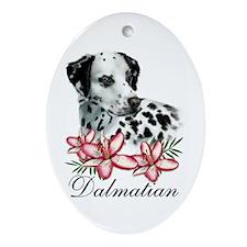Dalmatian Dog Oval Ornament